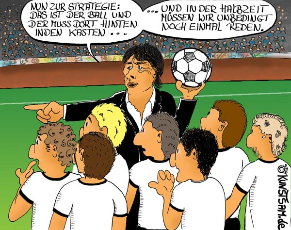 Cartoon Zum Fussballtraining
