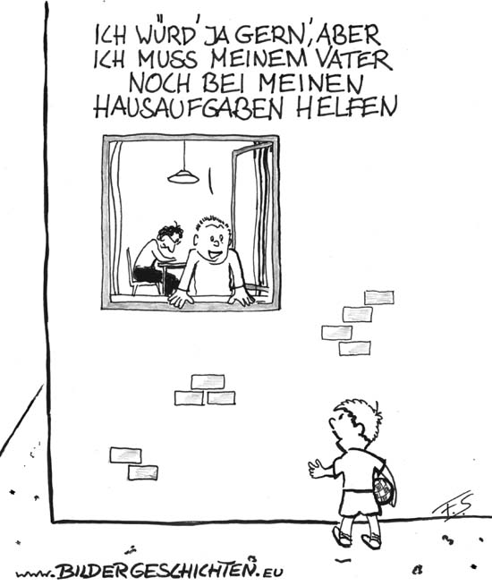 Schularbeiten cartoon