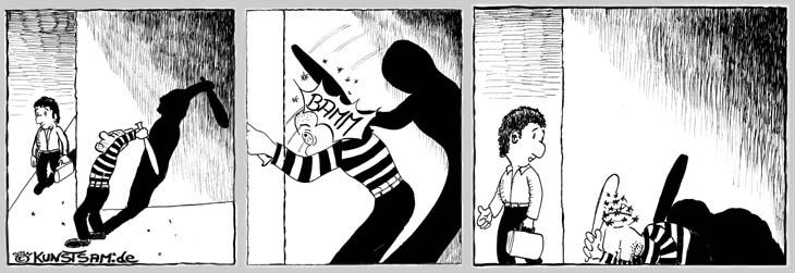 Kurzer Comicstrip